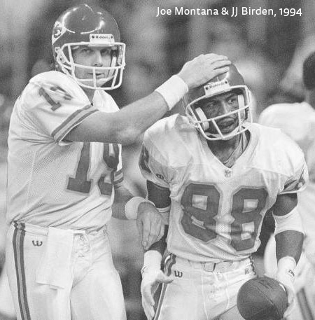 jj birden and joe montana
