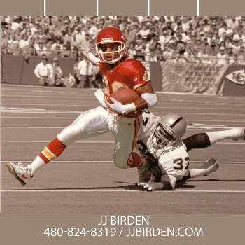 JJ Birden Catches a Pass Against the Oakland Raiders